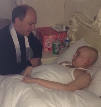 One of our chaplains supporting a traveller child suffering with cancer