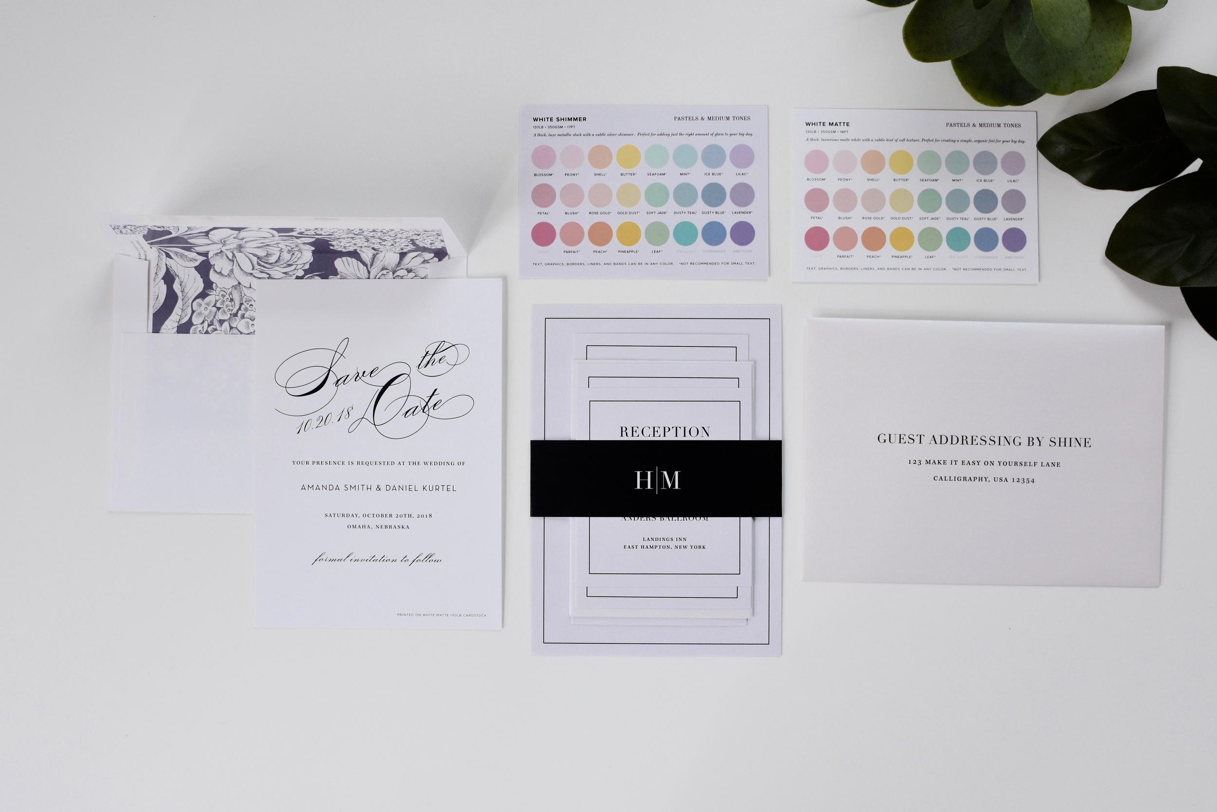 wedding invitation samples from Shine Wedding Invitations