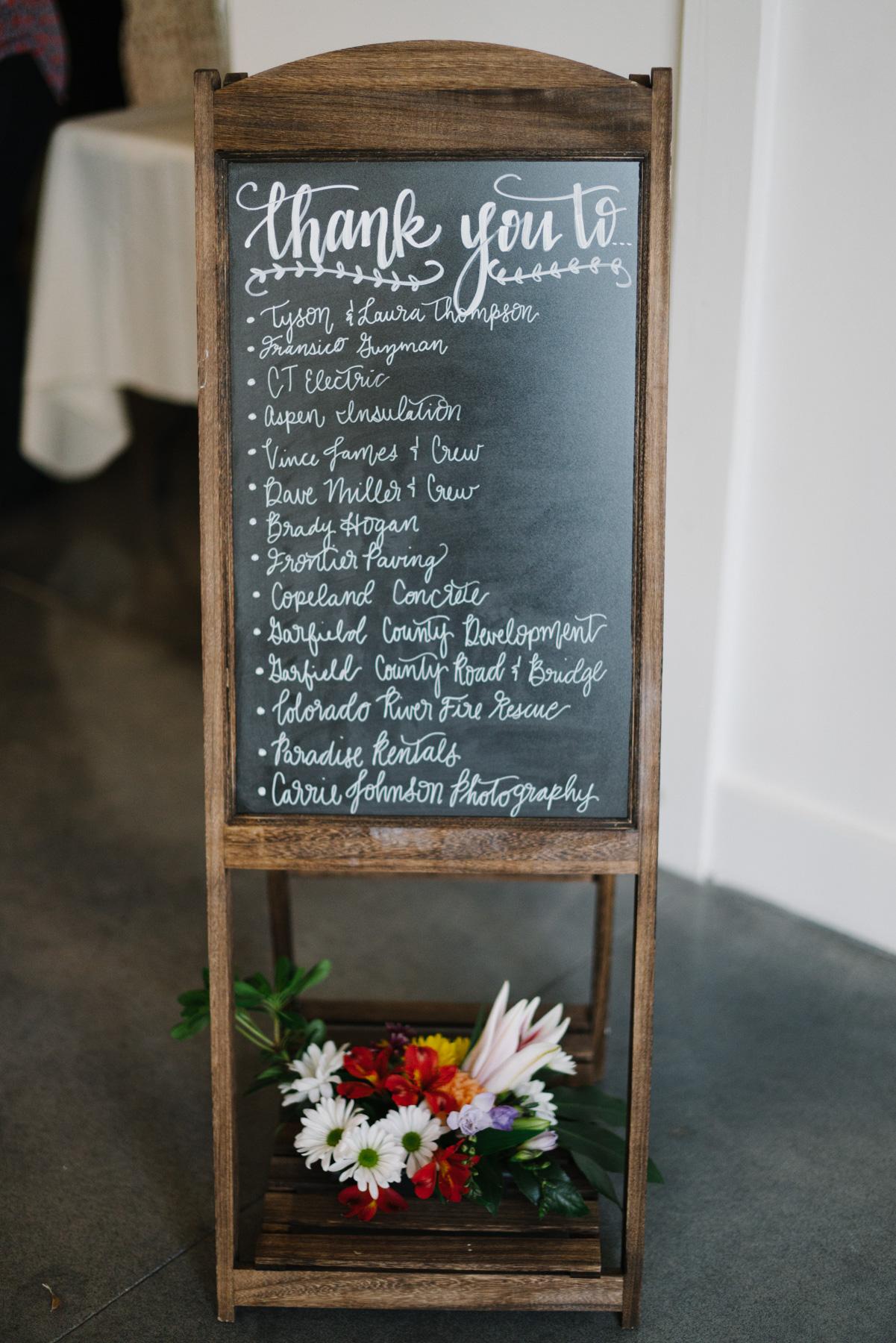 Barn Wedding Venue in Colorado | Hand Lettering by Katelyn Krist