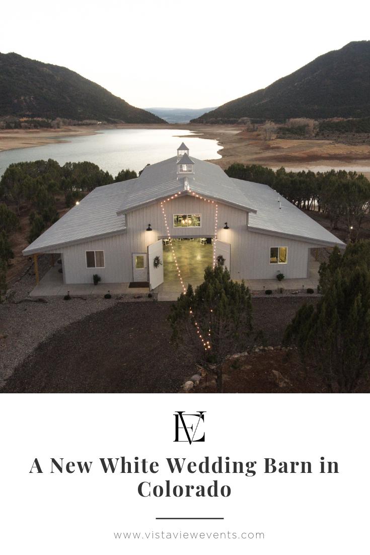 New White Wedding Barn in Colorado