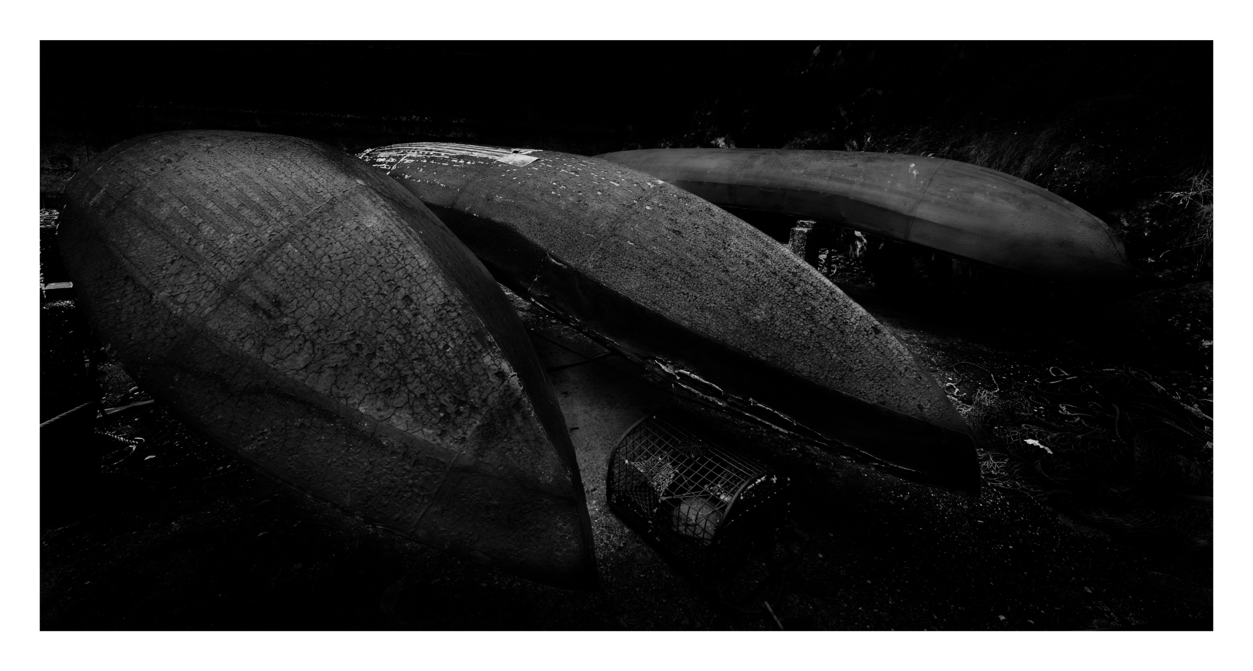 MK's Curraghs on Dunquinn pier, F11 1.6 sec exposure