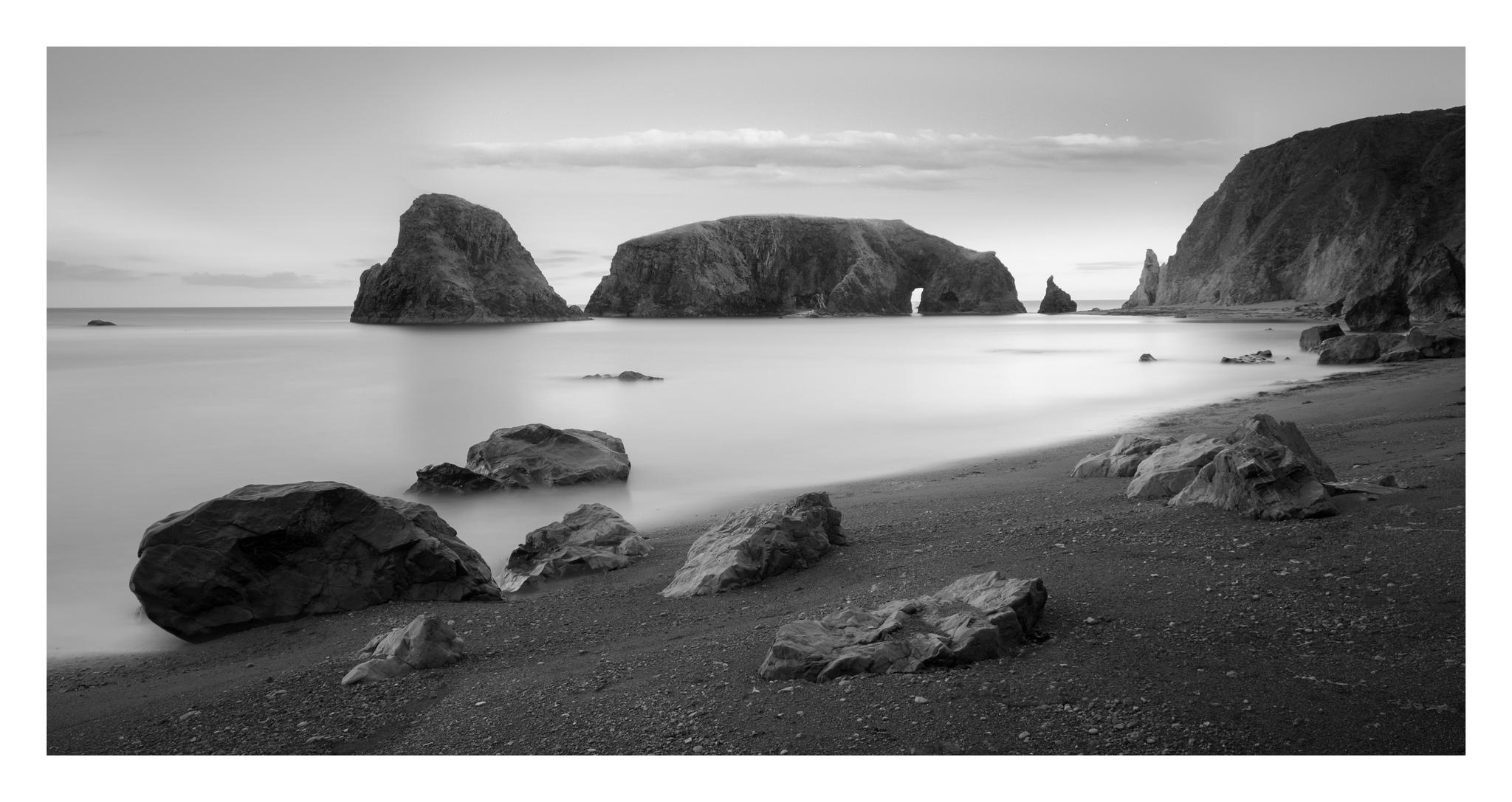Kilfarrasy 1 - ast side of Kilfarrasy beach at high tide. Copper Coast , Waterford