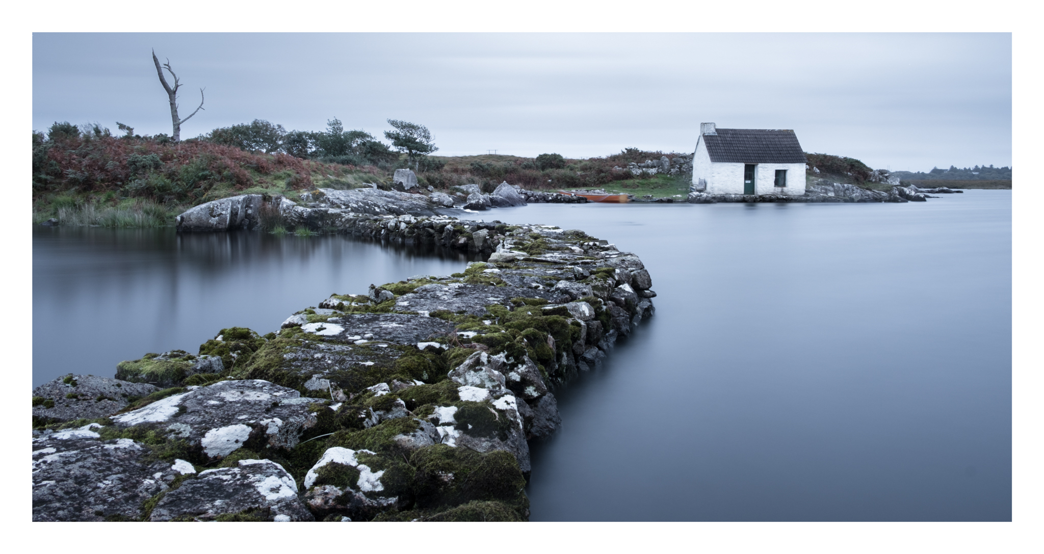 Tried a few different angles to use a wider field of view, Screebe Fishing hut