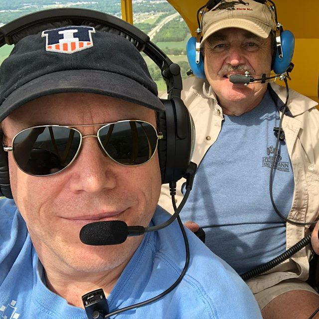 It's #worldpilotsday so here's one with my favorite copilot and my favorite plane . . . #j3 #piperj3cub @piper_aircraft_inc