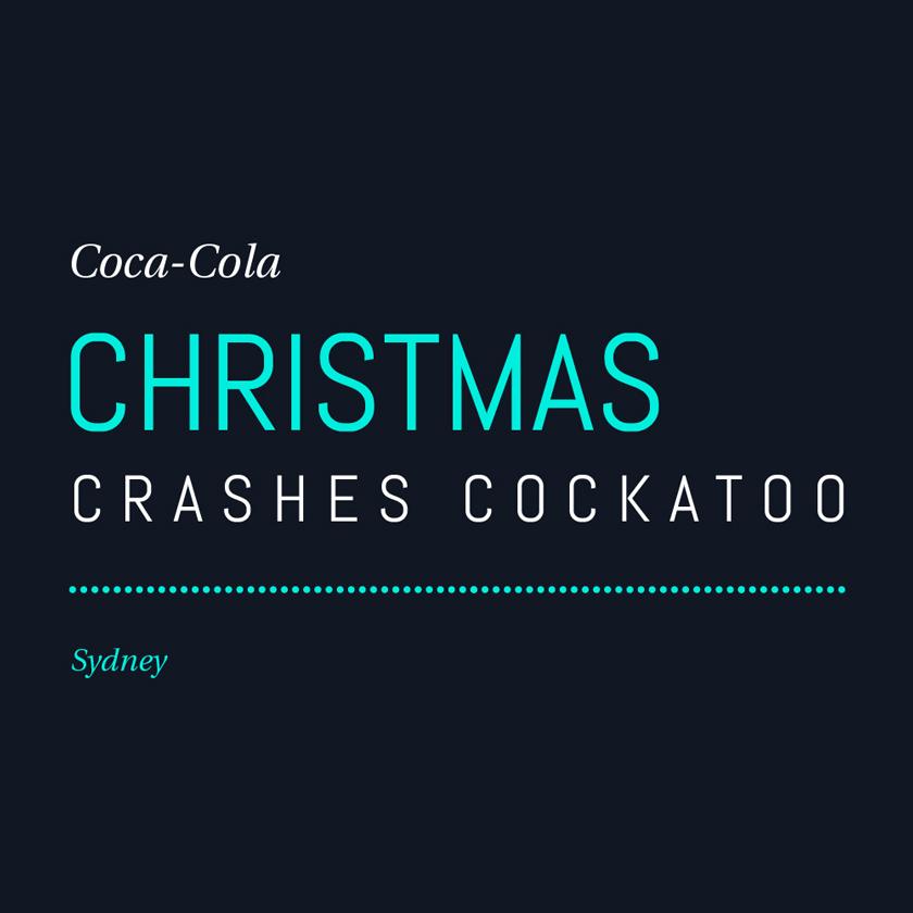 Coca-Cola Christmas crashes Cockatoo Island. Sydney.