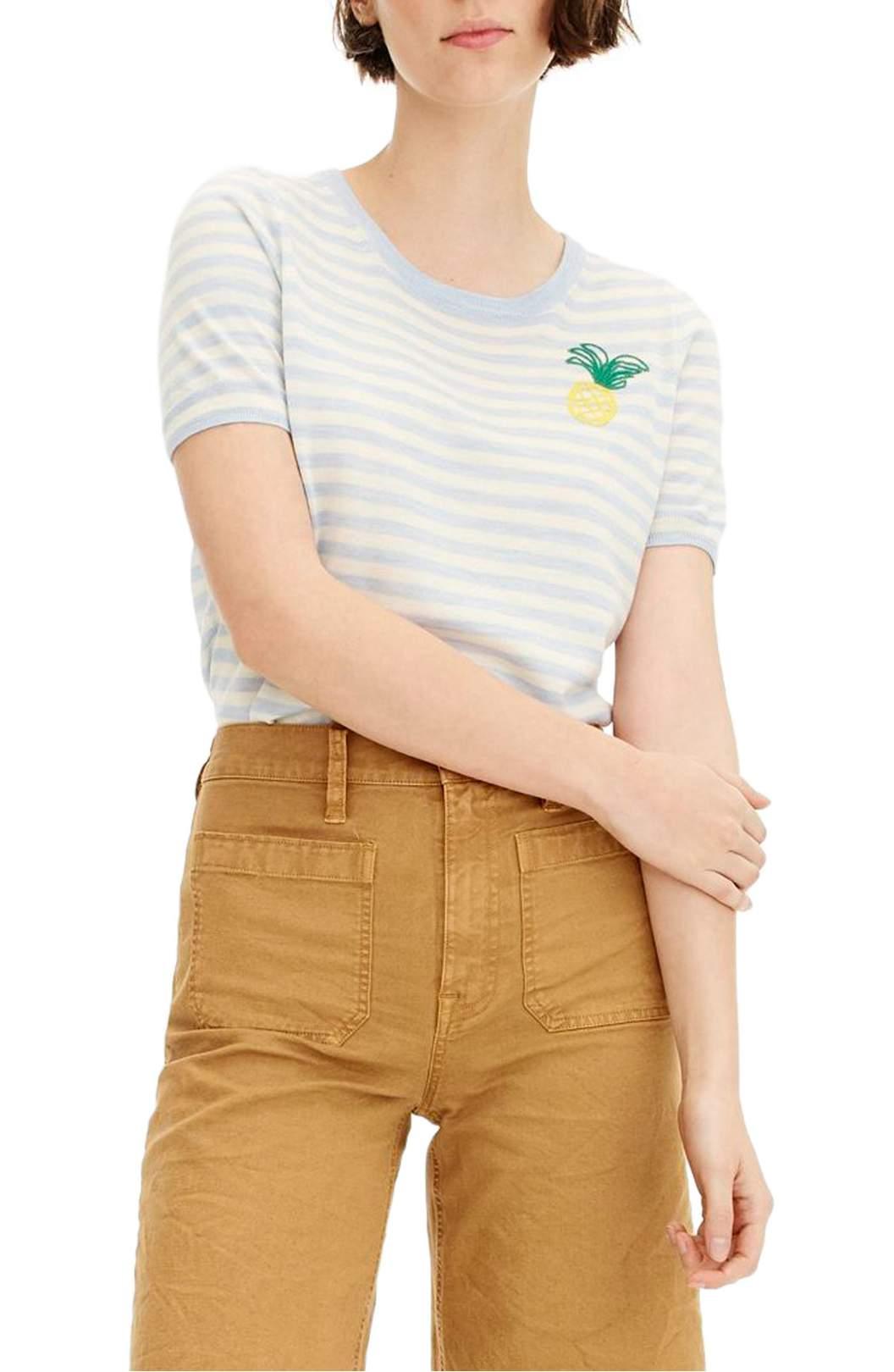https://shop.nordstrom.com/s/j-crew-tippi-pineapple-stripe-short-sleeve-sweater/4965779?origin=keywordsearch-personalizedsort&fashioncolor=HEATHER%20BREEZE%20IVORY
