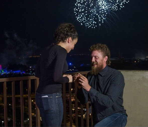 NY DAILY NEWS - Giants star Hunter Pence gets engaged to Alexis Cozombolidis at Disney World, shares video on social media