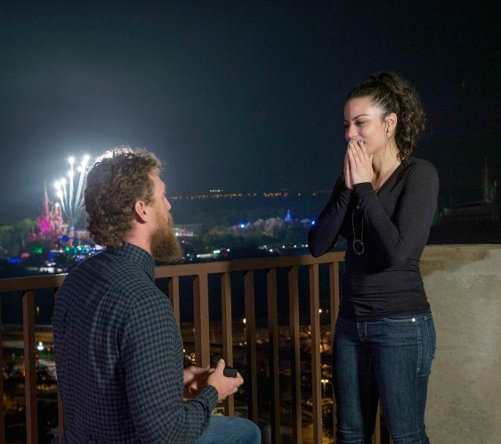 BRIDES - San Francisco Giants Player Hunter Pence Just Pulled Off a Fairytale, Disney World Proposal!