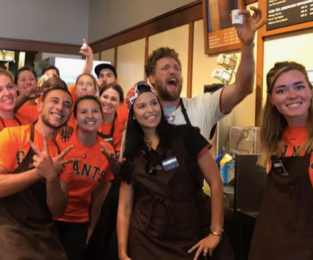 Eater SF - Giants Star Hunter Pence Plays Barista at Peet's, Plans His Own Cafe