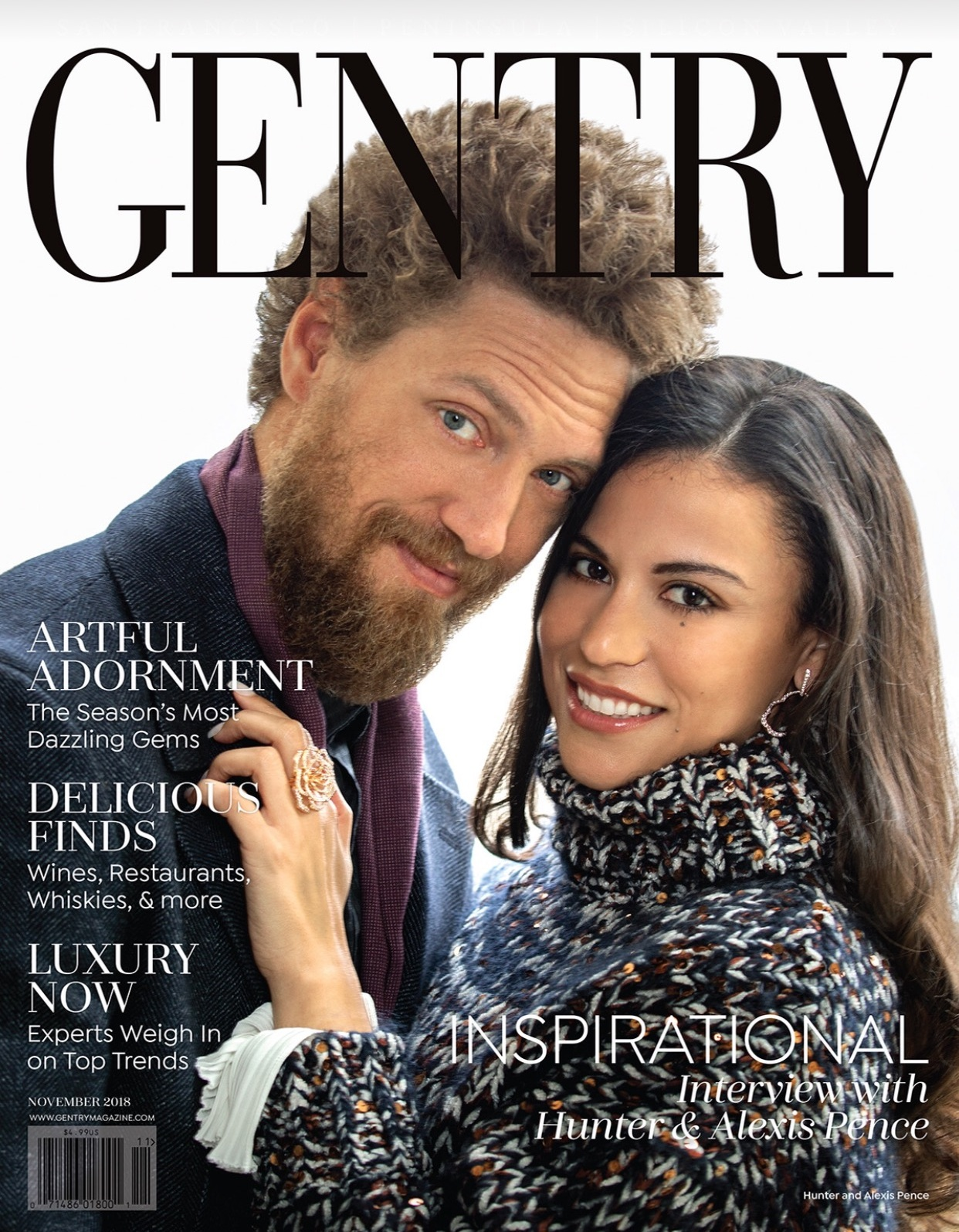 Gentry Magazine - Alexis and Hunter Pence are honored to receive the Inspirational Award for their volunteer work.