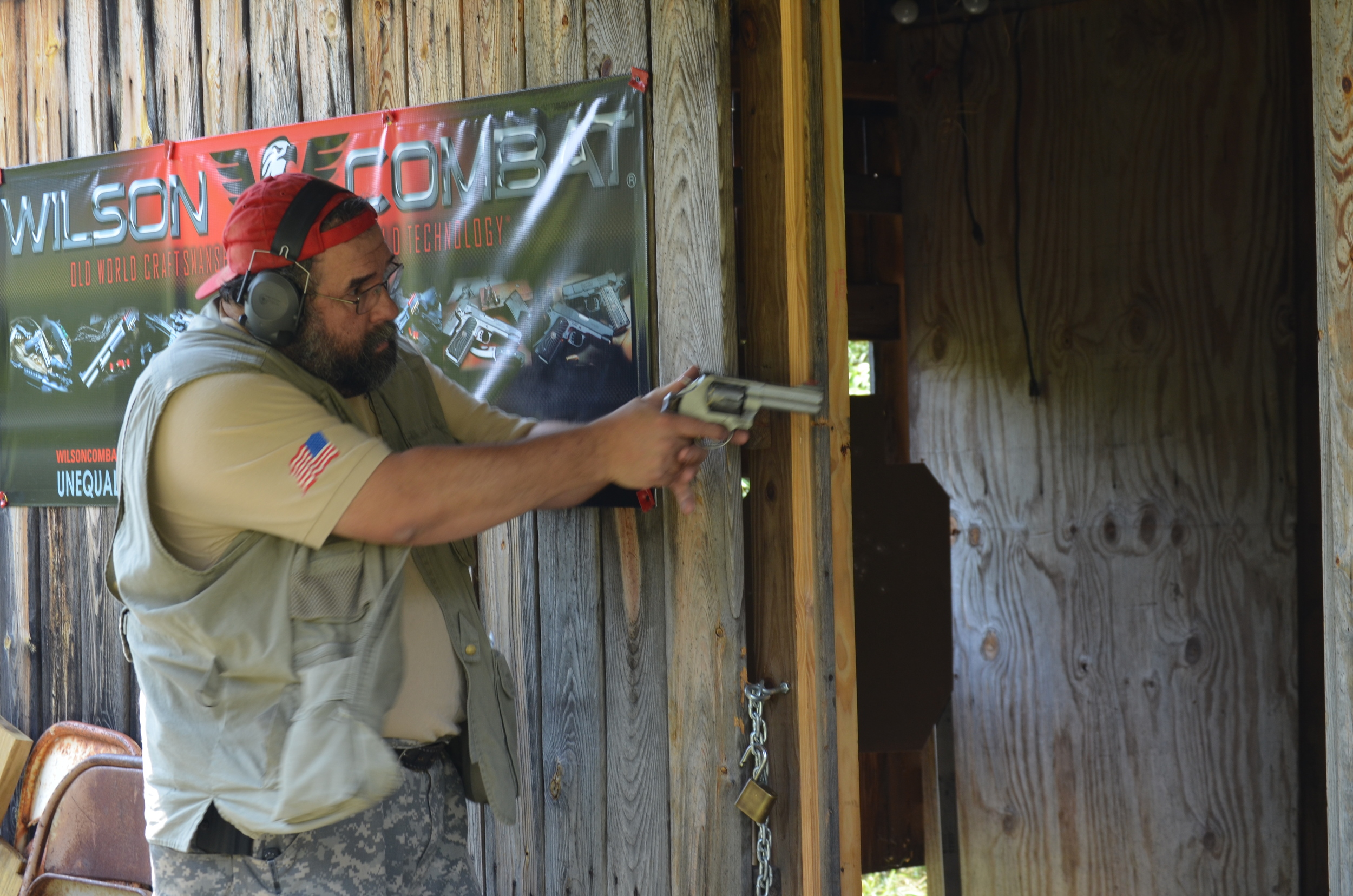 Me shooting at the Mountaineer Classic IDPA match in 2011.
