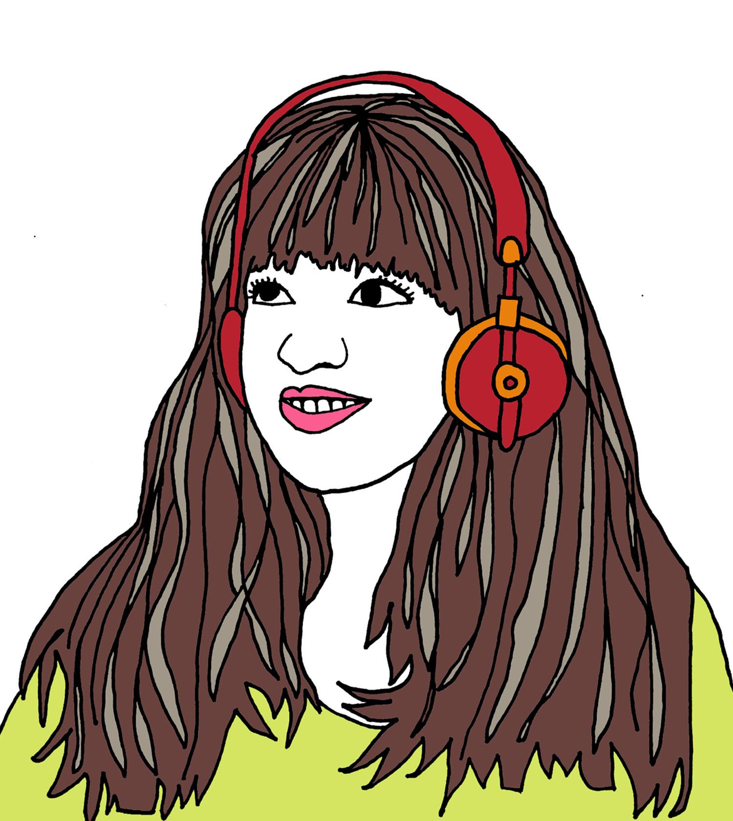 custom portrait illustration headphones kari chapin nicole stevenson studio.jpg