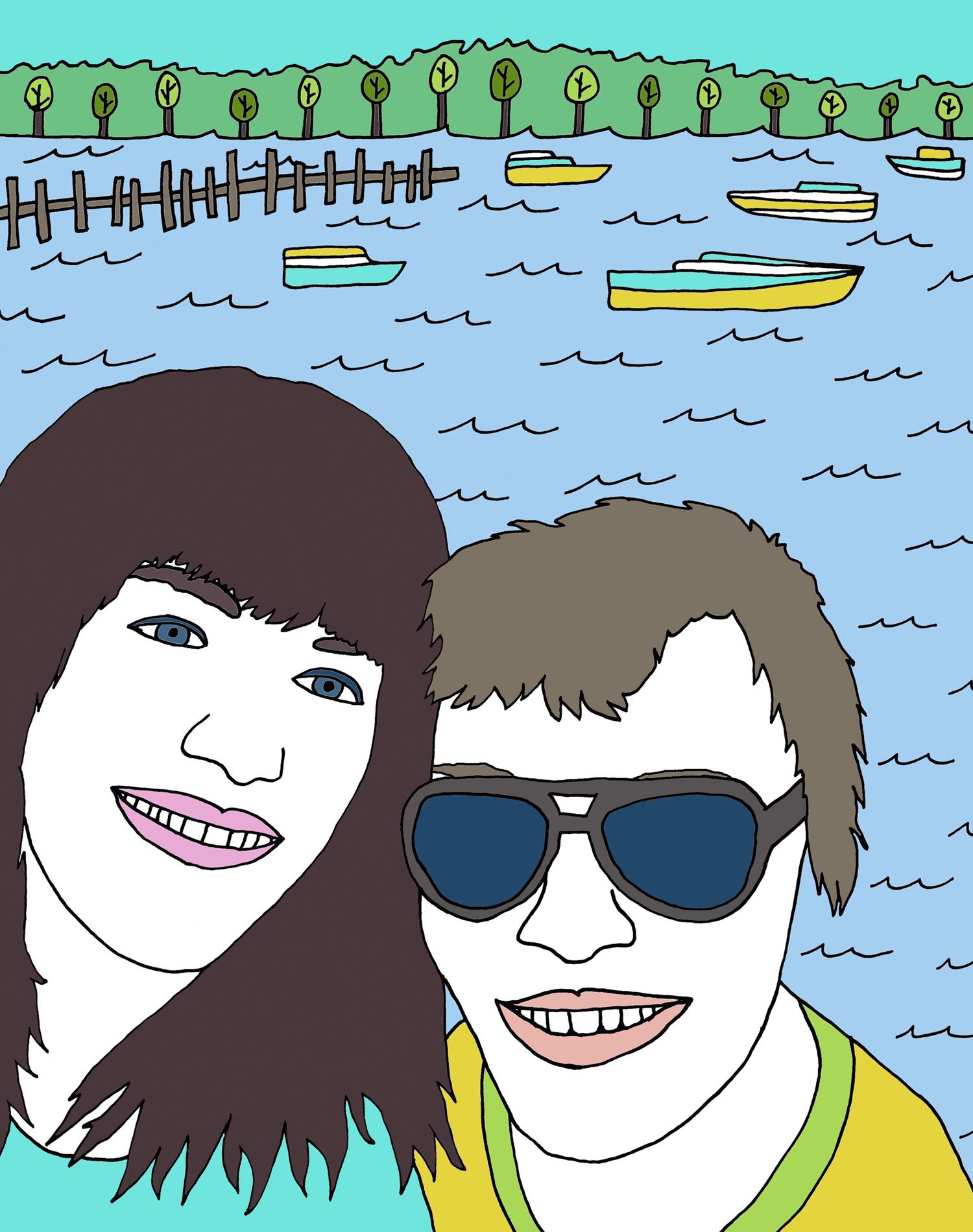 custom portrait illustration paige and parris nicole stevenson studio.jpg
