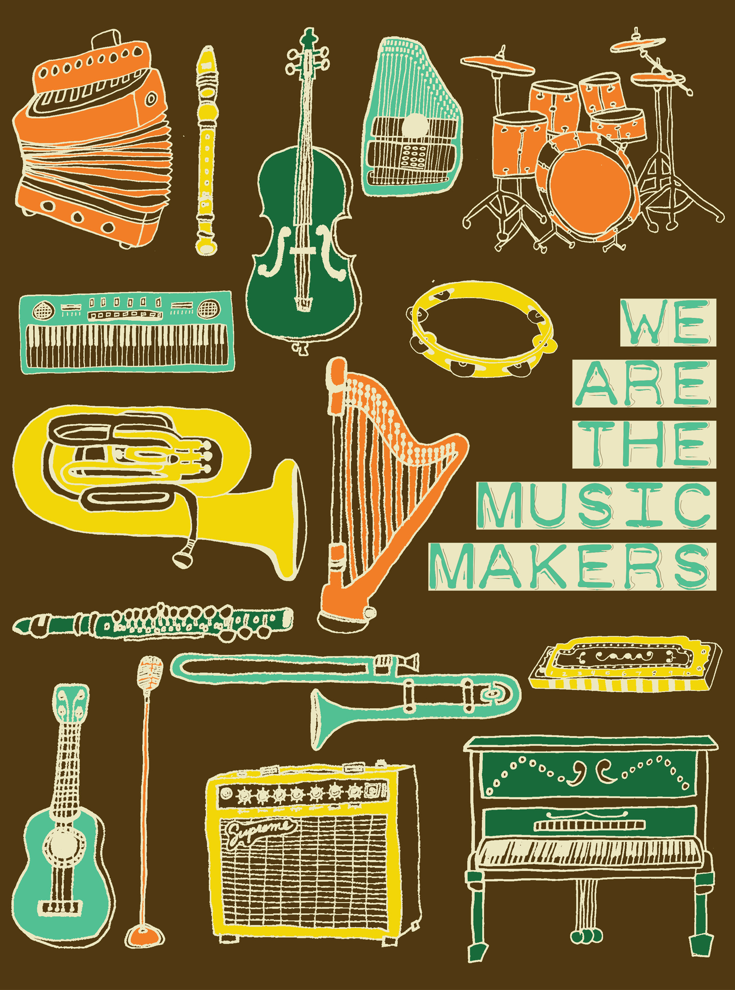 music instruments we are the music makers illustration nicole stevenson studio.jpg