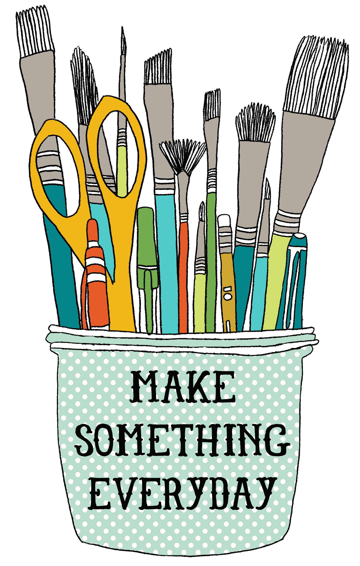 illustration maker sew craft tool jar paintbrush nicole stevenson studio.jpg
