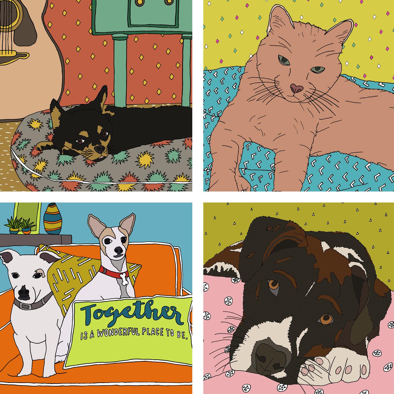 2 custom pet portrait illustrations.jpg