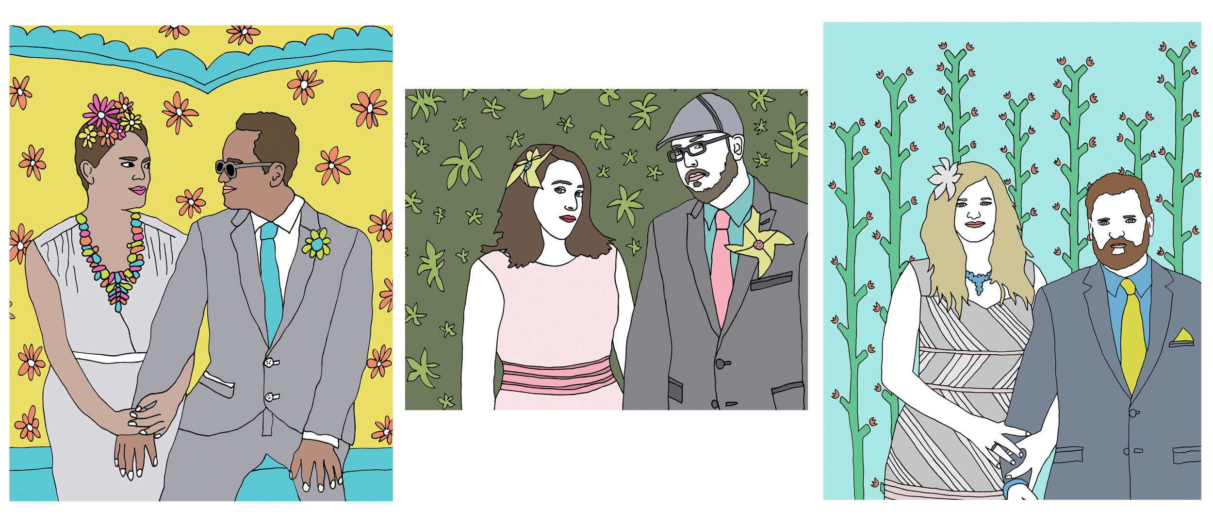 custom wedding portrait illustration nicole stevenson studio.jpg