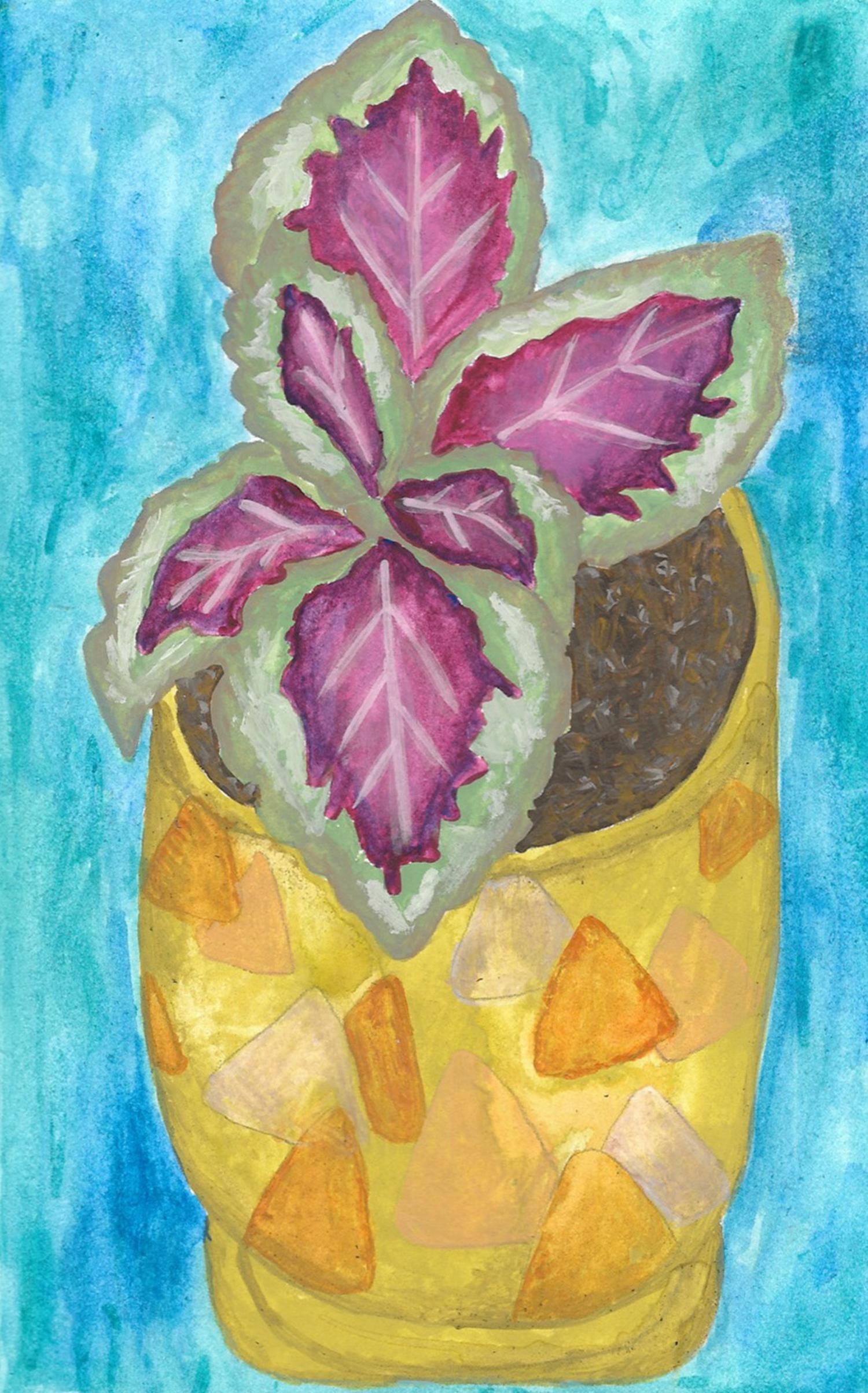 watercolor plant pot illustration nicole stevenson studio.jpg