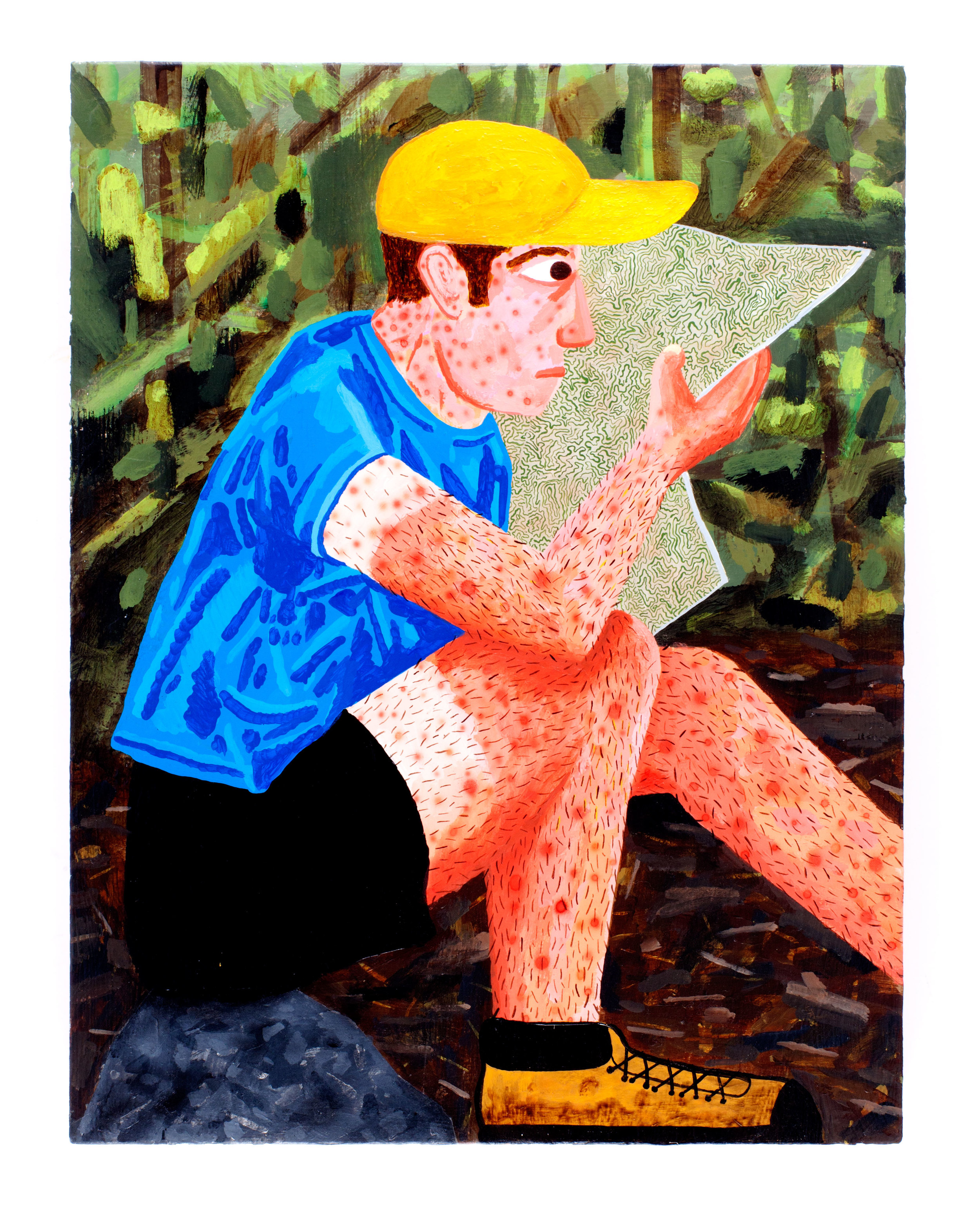 "Sad hiker- 20x24"" Acrylic on Panel"