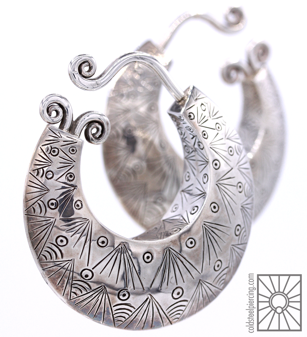 """Bold, shiny, beautiful. The """"Nexus"""" in silver from Maya Jewelry are definitely some show-stoppers 🌟 These beauties are discontinued now, so be sure to snap them up where you can. Available in the studio and our online store!"""