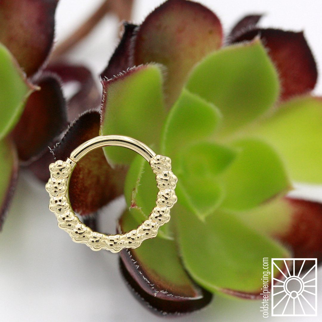 """Beautiful solid Yellow Gold """"Milo"""" continuous ring from Body Vision Los Angeles."""