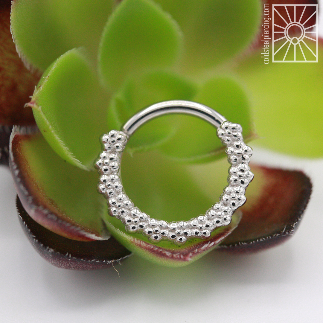 """Beautiful solid White Gold """"Milo"""" continuous ring from Body Vision Los Angeles."""