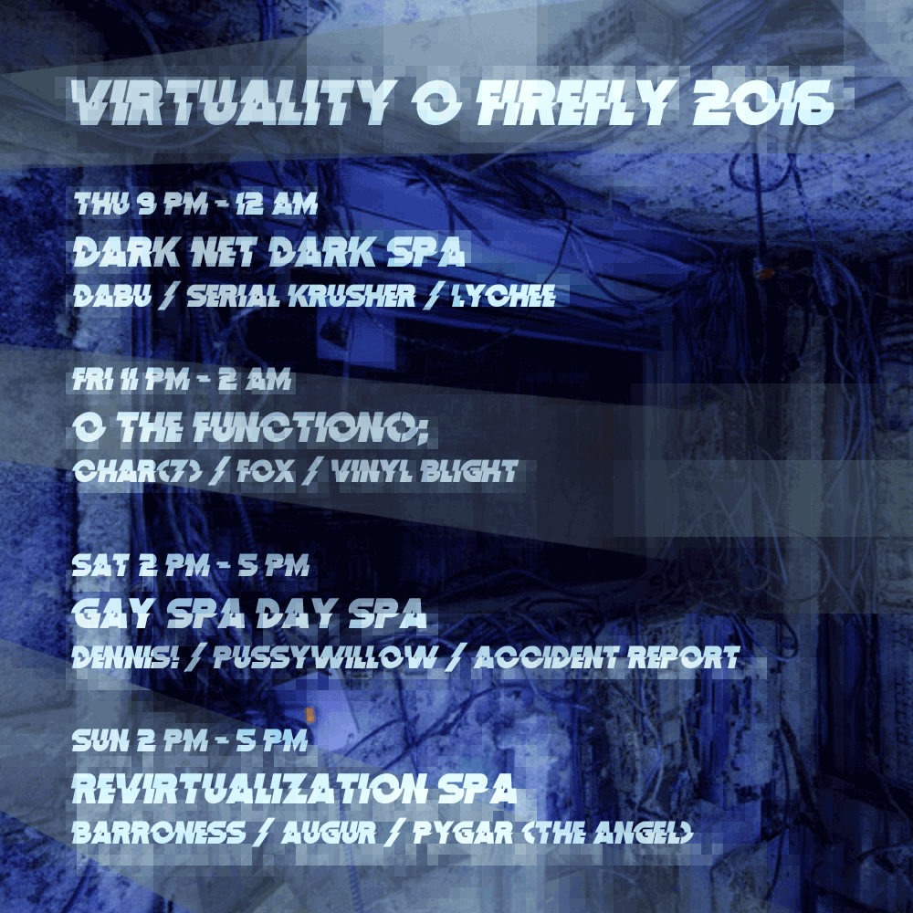Virtuality 2016 Event Schedule