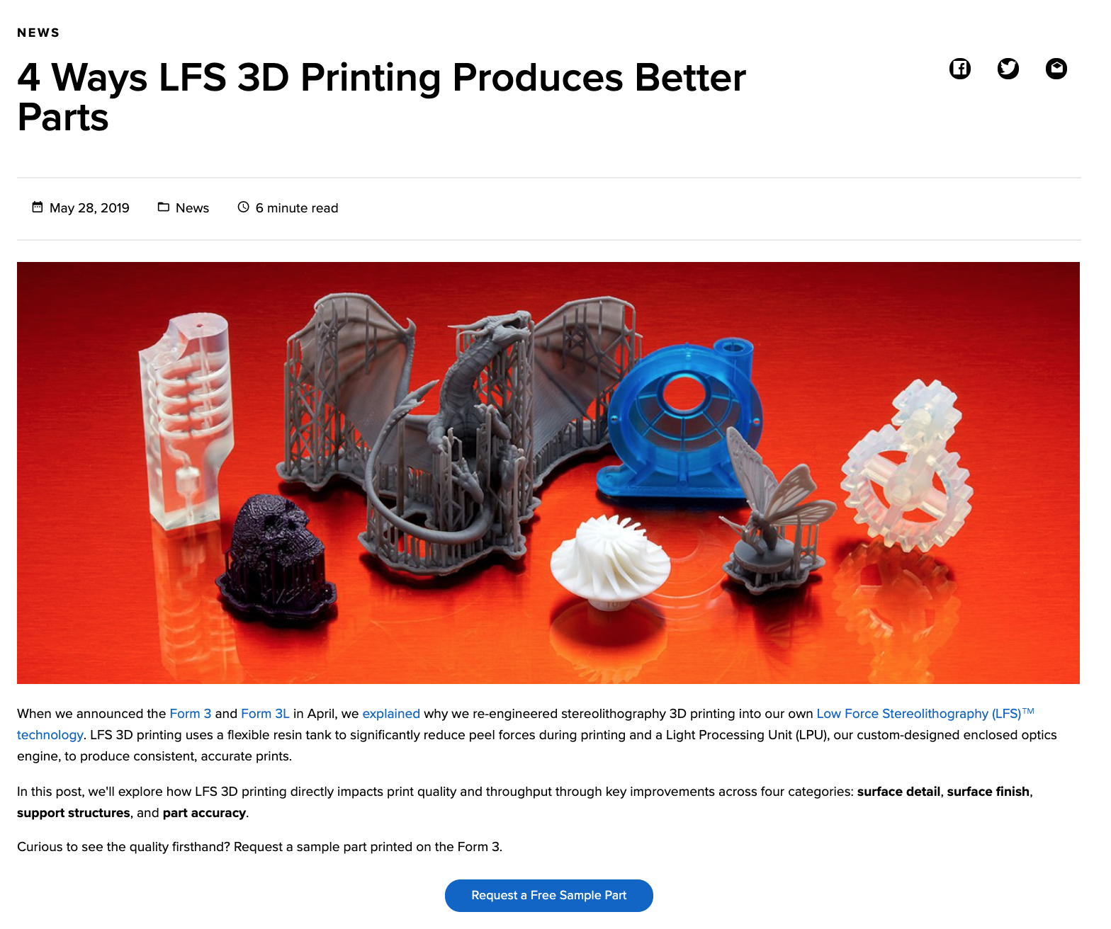 Blog: 4 Ways LFS 3D Printing Produces Better Parts