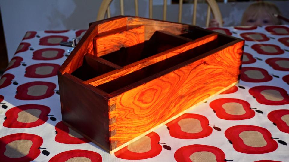Solid cocobolo steadicam stand box