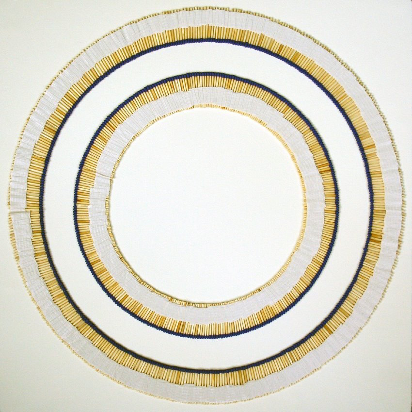 "Eclipse (before)  matches and tape on paper 40 x 40"" 2008"