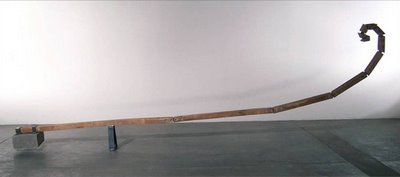 "Point of Fibonacci  wood, steel, concrete 18 x 94 x 240"" 2005"