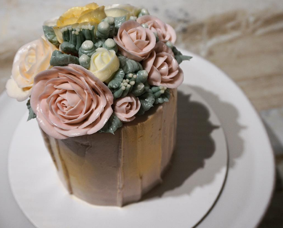 "rose 4"" mini cake"