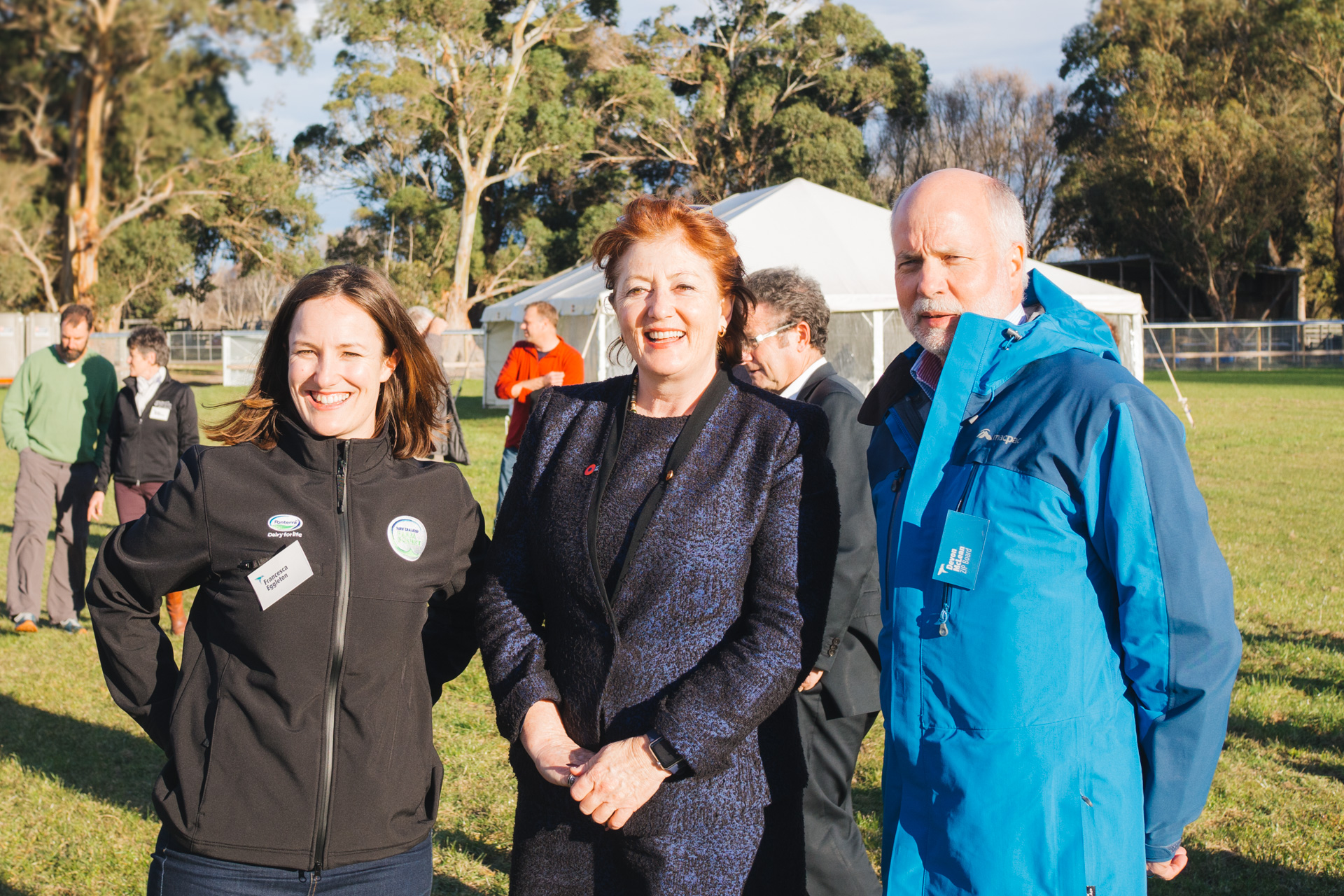 L-R: Francesca Eggleton (Fonterra and Chair of Dairy Industry Working Group), Hon Maggie Barry, Devon McLean
