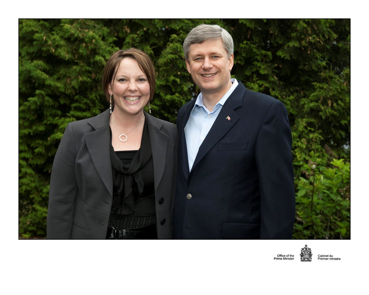 That First Grey Suit Came in Handy. Here it is in My first Picture with the Prime Minister.
