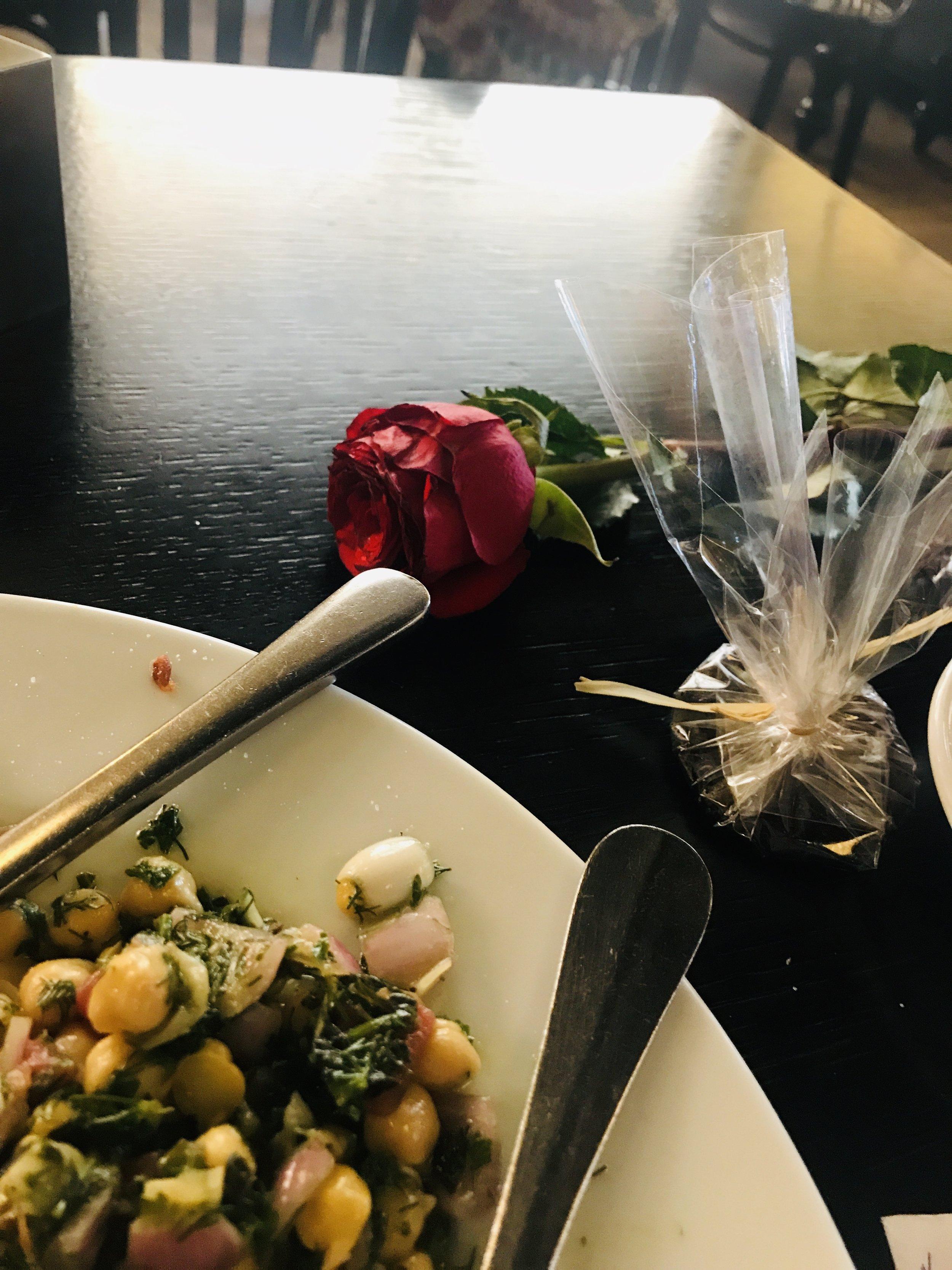 Valentines Dinner & Flower