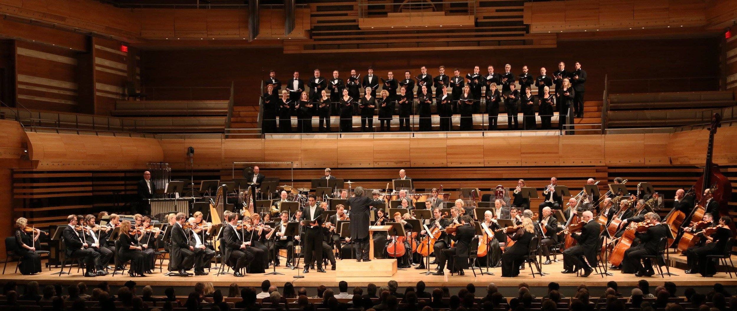 The Montreal Symphony Orchestra and Chorus with Tenor Frederic Antoun perform  The Seven Heavenly Halls  in October of 2016, conducted by Kent Nagano