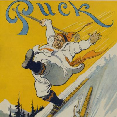 Keppler, Udo J., Artist. The lost ski / Kep. N.Y.: Published by Keppler & Schwarzmann, Puck Building. Photograph. Retrieved from the Library of Congress, <https://www.loc.gov/item/2011648857/>.