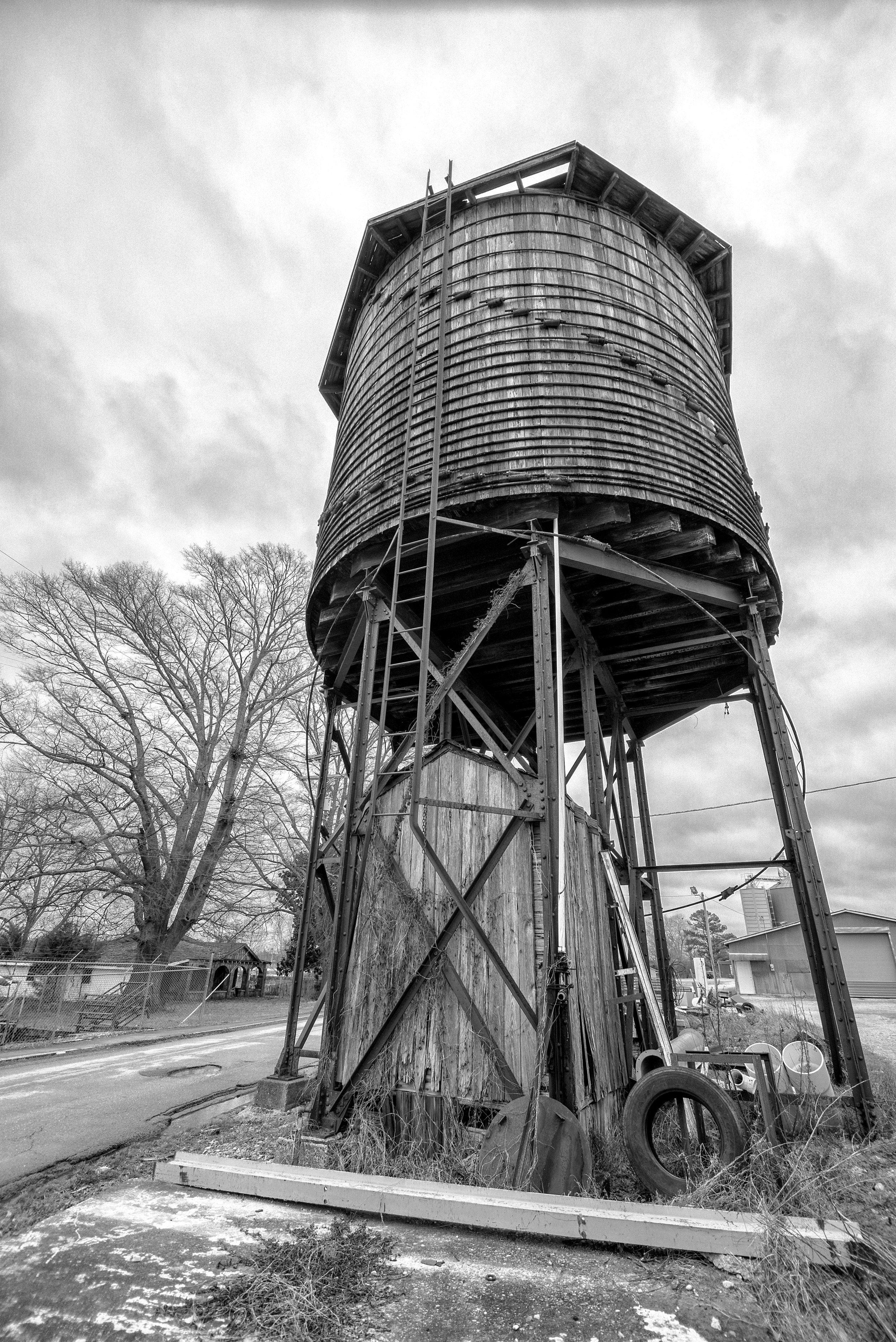 The water tower for the Illinois Central RR in Franklin County. Probably around 100 years old.