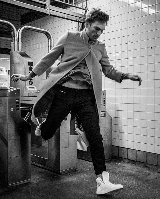 From my shoot with @koiocollective  Jumping turnstyles with @_Andrewmark  Clothing styled by Ramses the great @fmnty  #subway #fashion #fashionshoot #modellife #nyc #bushwick #morgan