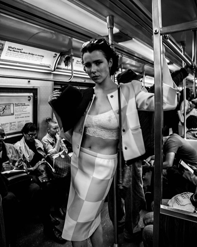 @marla_x in the wild  #nyc #fashion #subway