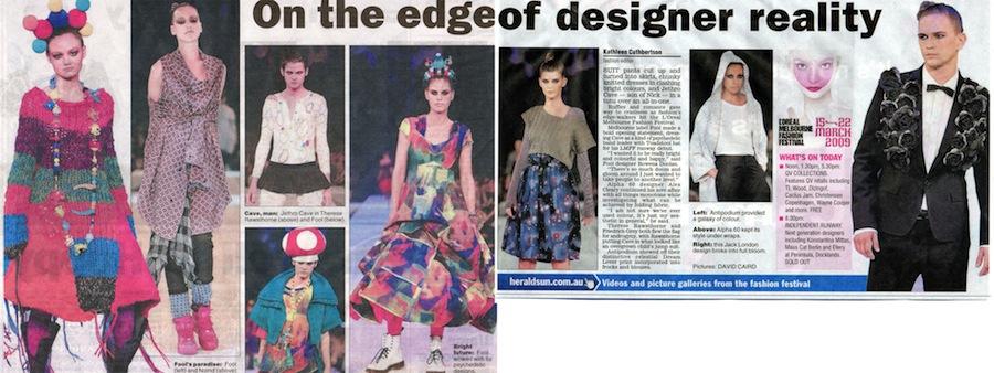 """Edge of Designer Reality"" Herald Sun '09"