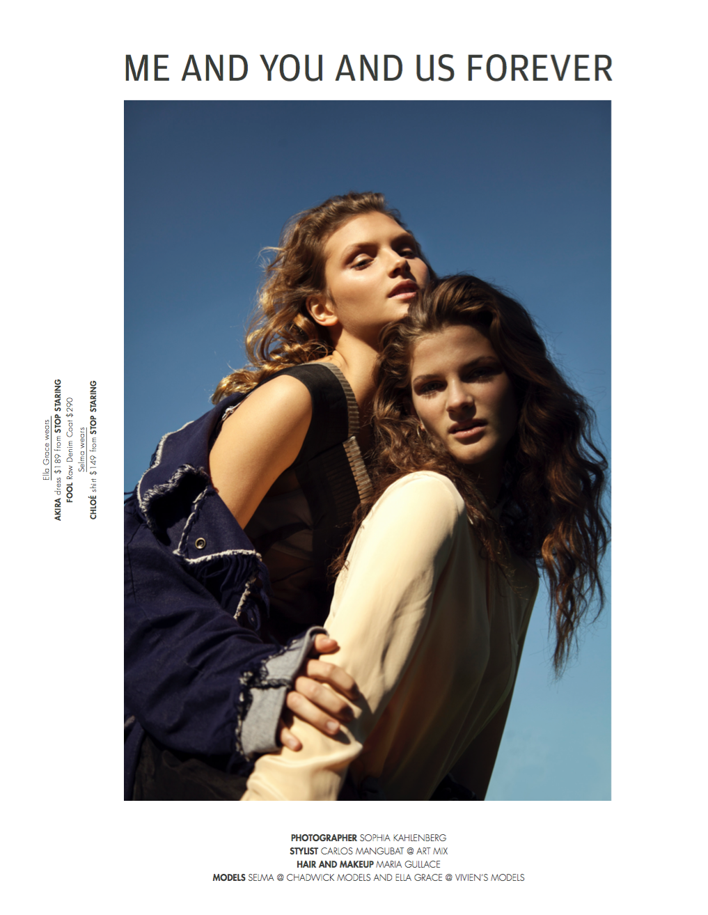 'YOU AND ME AND US FOREVER' FASHION JOURNAL 2016