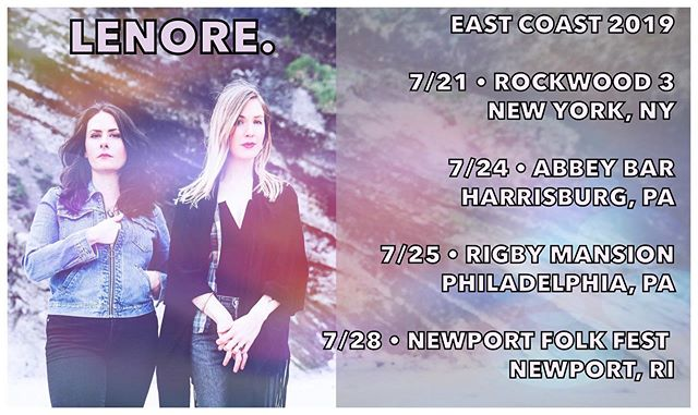Come n git it, east coasters. All info up at lenoresings.com #lenoresings
