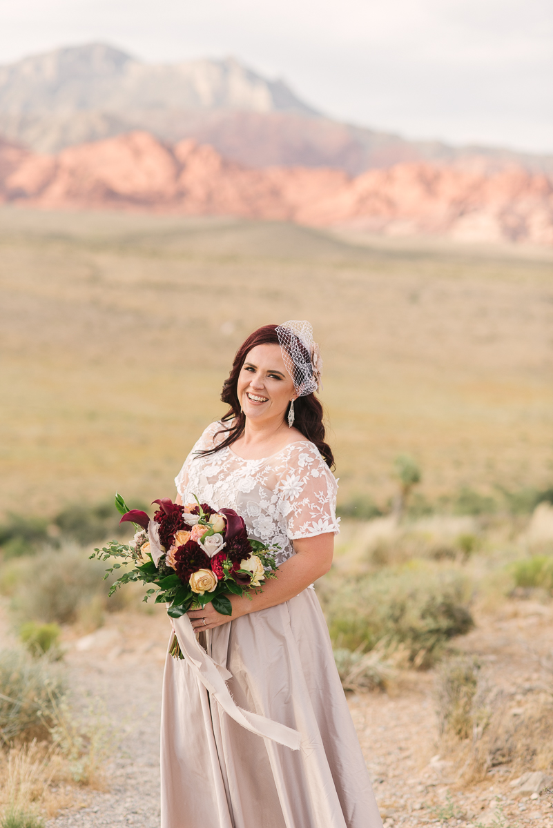 Its me!  At my own wedding in Red Rock, Las Vegas July 2019 - its the only professional photo I have of myself :)