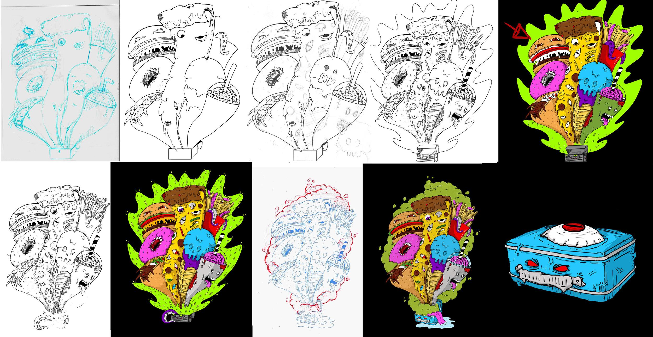Pandora's Music Box Sketches
