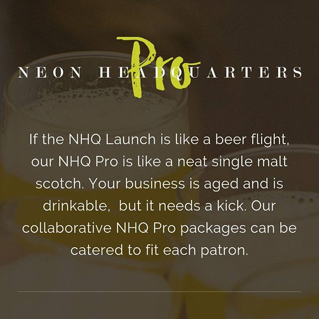 Sometimes our clients' businesses need a good kick. Maybe an extra shot of TLC, sugar rimmed with a squeeze of lime. #neonhq #theinstagramlab