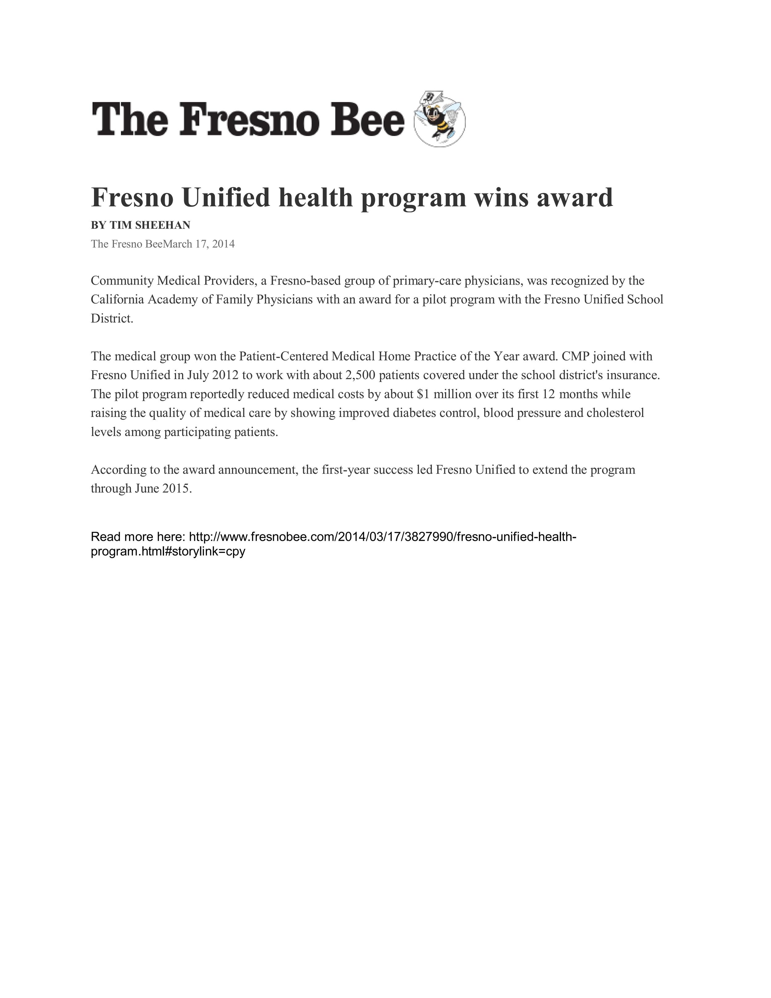 Fresno Bee - PCMH May 29, 2012_001.jpg