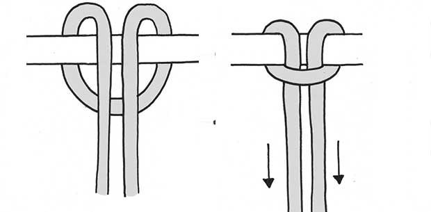 Lark's Head Knot