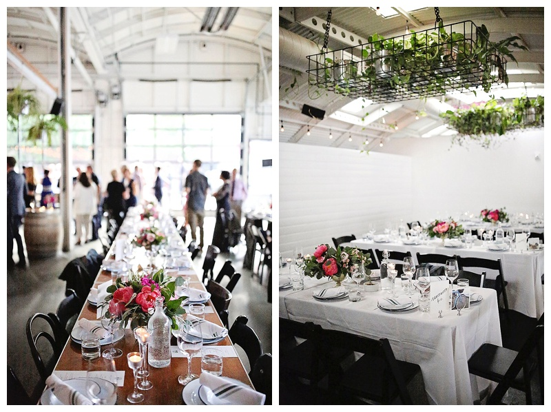 Oregon Wedding Florist Portland Coopers Hall Reception