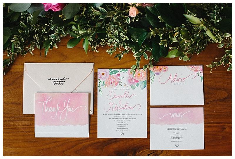 Portland Oregon Wedding Florals Invitation Flowers